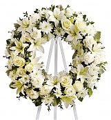 Funeral Flowers: Serenity Wreath