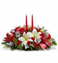 Flower Bouquets: Lights of Christmas Centerpiece