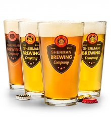 Personalized Keepsake Gifts: Personalized Pint Glass Set