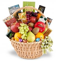 Food & Fruit Baskets: Sophisticated Gourmet Fruit Basket